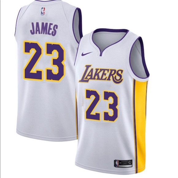 lebron james white lakers jersey